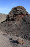 Old solidified lava. Solidified lava on Lanzarote Island royalty free stock image