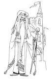 Old sorcerer Royalty Free Stock Images