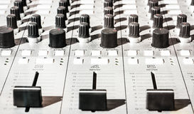 Old sound mixer Royalty Free Stock Images