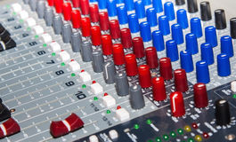 Old sound mixer Royalty Free Stock Image