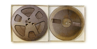 Old sound recording tape, reel to reel type. Stock Photo