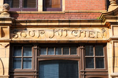 Old soup kitchen building, London UK. Old soup kitchen building in London's East End Royalty Free Stock Photos