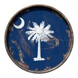 Old South Carolina flag Royalty Free Stock Photo