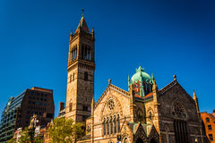 Old South Church, at Copley Square in Boston, Massachusetts. Stock Photography