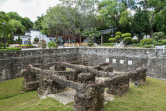 Old South Gate at the Kowloon Walled City Park in Hong Kong Stock Image
