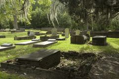 Old Southern Cemetery. An old pre-Civil War cemetery in the old South Stock Images