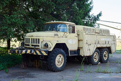 Old soviet Aeroflot airfield tanker Zil-131 Stock Photography