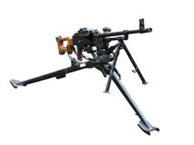 Old soviet army machine gun isolated on white Stock Photography
