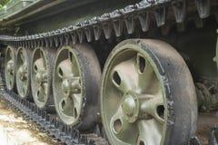 Old Soviet army tank caterpillar. Royalty Free Stock Photography
