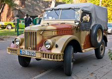 Old Soviet Army truck GAZ-69 at a car show Royalty Free Stock Images