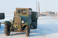 Old Soviet army truck  of WWII. Stock Photo