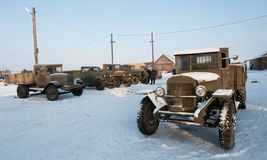 Old Soviet army truck  of WWII. Royalty Free Stock Photos