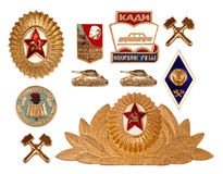 Old soviet badges Stock Image