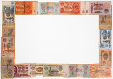 Old Soviet banknotes Stock Photos