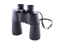 Old soviet binocular. Royalty Free Stock Photo