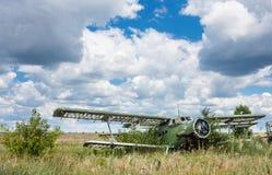 Old soviet biplane Antonov An-2 Colt aircraft Royalty Free Stock Photos
