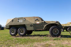 An old Soviet BTR-152 wheeled armored personnel carrier royalty free stock image