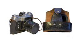 Old soviet camera Royalty Free Stock Images