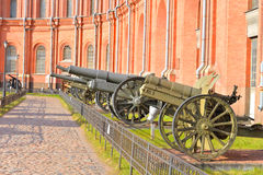 Old soviet cannon in Museum Artillery. Stock Image
