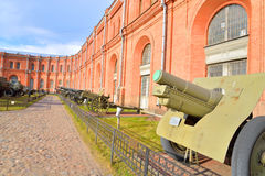 Old soviet cannon in Museum Artillery. Stock Photography