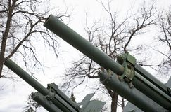 An old Soviet cannon from Second World War stock image