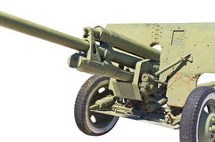 Old Soviet cannon Royalty Free Stock Photo