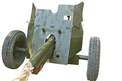 Old Soviet cannon Stock Photography