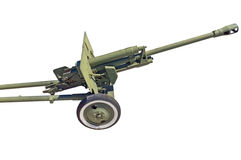 Old Soviet cannon Royalty Free Stock Photography