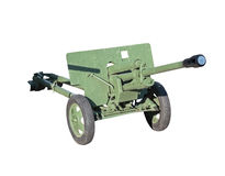Old Soviet cannon Royalty Free Stock Images