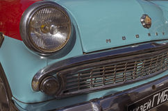 Old Soviet car Moskvich-403, fragment. Royalty Free Stock Image