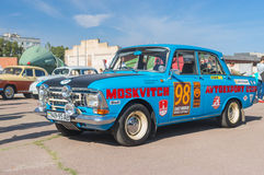 Old soviet car Moskvitch 412  on the Dnepr auto retro show Royalty Free Stock Images