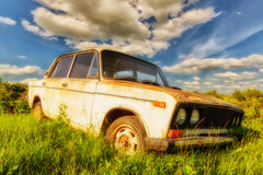 Old soviet car Royalty Free Stock Image