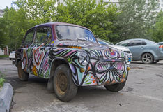 Old Soviet car Zaporozhets ZAZ-965 Royalty Free Stock Photos