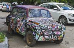 Old Soviet car Zaporozhets ZAZ-965 Royalty Free Stock Photo