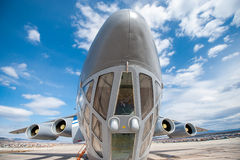 Old Soviet cargo plane IL-76 Stock Photography