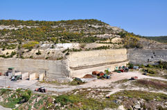 Old soviet cars in a quarry Stock Photo