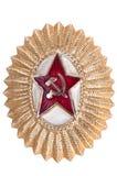 Old Soviet cockarde, soviet insignia. Stock Image