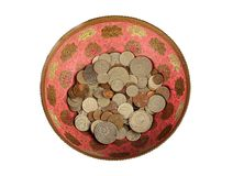 Old soviet coins in bronze vase Stock Photos