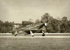 Old Soviet fighter plane Stock Photo