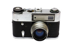 The old Soviet film camera Stock Photo