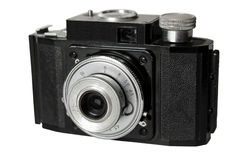 The old Soviet film camera. Royalty Free Stock Photos