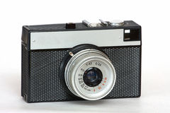 Old Soviet film camera. On white background Stock Photography