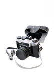 Old soviet film camera isolated Royalty Free Stock Images