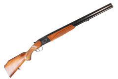 Old Soviet 12-gauge over and under double-barreled hunting gun Stock Images