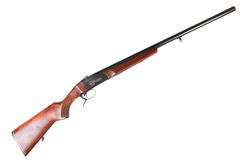 Old Soviet 12-gauge single-barreled hunting gun Royalty Free Stock Image