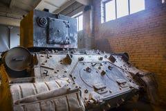Old soviet heavy tank KV2 Royalty Free Stock Photography