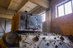 Old soviet heavy tank KV2 Stock Photos
