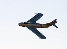 Old Soviet jetfighter stock photo