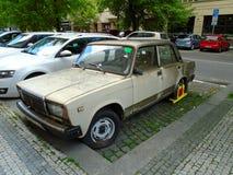 Old Soviet Lada car , Prague, Czech Republic, Europe, 5.5.2017 Stock Photos