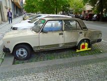 Old Soviet Lada car , Prague, Czech Republic, Europe, 5.5.2017 Royalty Free Stock Photo